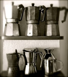 Différents modèles de cafetière italienne