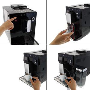 facilité d'utilisation de la machine à café