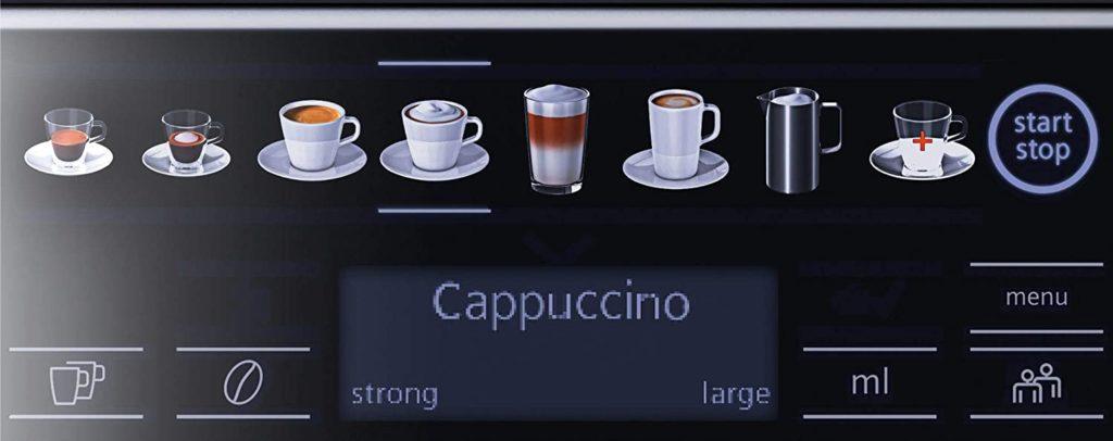 facilité d'utilisation de la machine à café Siemens